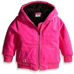 Carhartt Little Girls' Toddler Wildwood Jacket, Raspberry Ro
