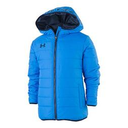 Under Armour Boys' Little Pronto Puffer Jacket, Blue Circuit