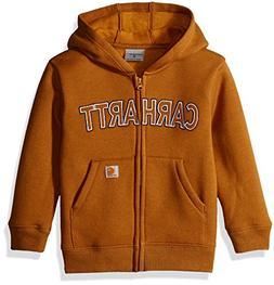 Carhartt Little Boys' Toddler Logo Fleece Zip Sweatshirt, Ca