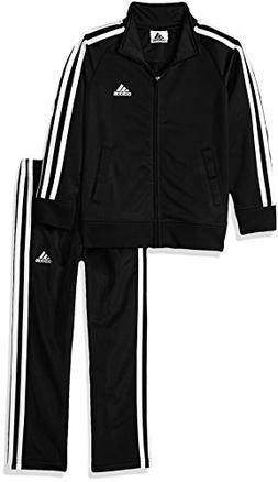 adidas Boys' Little Tricot Jacket and Pant Set, Midnight Adi
