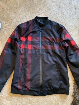 LOGEEYAR Men's Bomber Jacket Casual Slim Fit Printed Outerwe