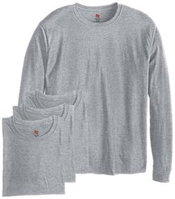Hanes Men's 4 Pack Long Sleeve Comfortsoft T-Shirt, Deep Roy