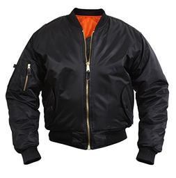 Rothco Ma 1 Flight Jacket, Black, 6X