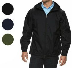 Men's Water Resistant Zip Up Hooded Lightweight Windbreaker