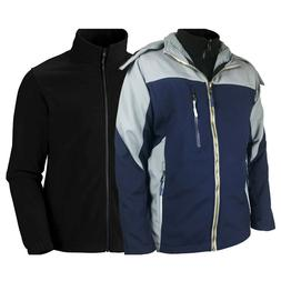 Men 3in1 System MountainGeer Jacket with Removable Inner Fle