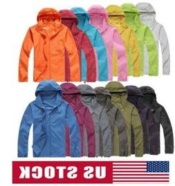 Men&Women Quick Dry Skin Jackets Waterproof Anti-UV Coats Ou
