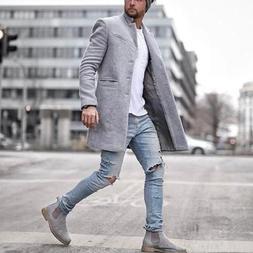 Men <font><b>jackets</b></font> vintage Casual Lapel Coat So
