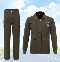 Men <font><b>Work</b></font> Clothing Sets Welder Uniforms W