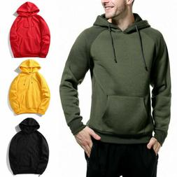 Men Hoodie Slim Hooded Sweatshirts Sport Sweater Pullover Ja