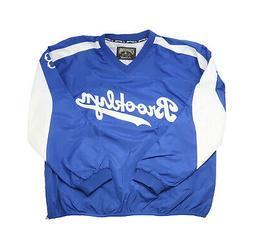 Majestic Men Jacket Brooklyn Dodgers Windbreaker Blue White