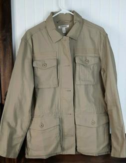 Goodthreads Men's 4-Pocket Military Jacket, Camo, Sz M, B361