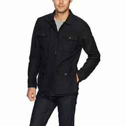 Goodthreads Men's 4-Pocket Military Jacket, Caviar/Black, La