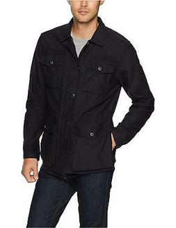 Goodthreads Men's 4-Pocket Military Jacket,, Caviar/Black, S