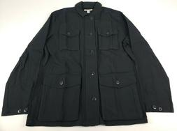 Goodthreads Men's 4-Pocket Military Jacket, Caviar/Black, La