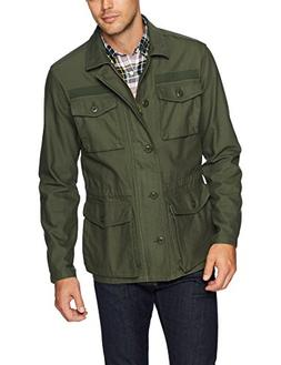 Goodthreads Men's 4-Pocket Military Jacket, Deep Depth/Olive