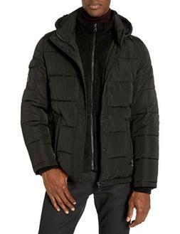 Calvin Klein Men's Alternative Down Puffer Jacket with Bib,