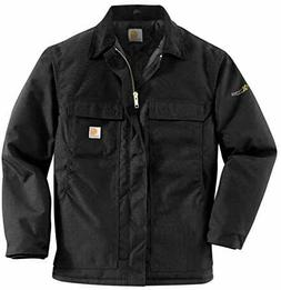Carhartt Men's Arctic Quilt Lined Yukon Coat,Black,Large