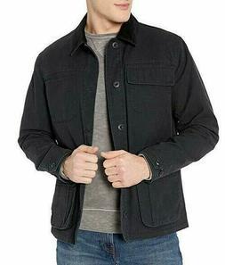 Goodthreads Men's Barncoat Button Up Jacket, Black, 2XL