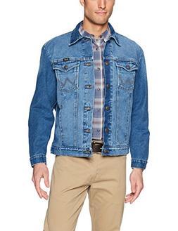 Wrangler Men's Western Style Unlined Denim Jacket, Faded Blu