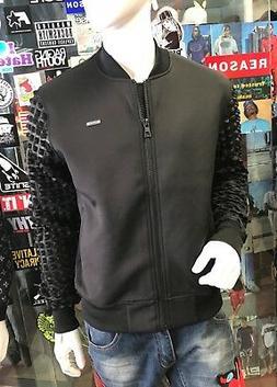 Men's Black Fashion Track Jacket