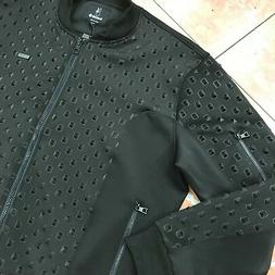 Men's Black Spiky Fashion Track Jacket