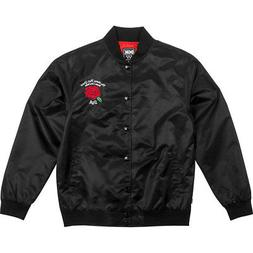 DGK Men's Bloom Snap Button Custom Long Sleeve Jacket Black