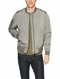 Goodthreads Men's Bomber Jacket, Grey, Small - Choose SZ/col