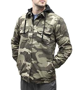 Dickies Men's Canvas Shirt Jacket with Quilted Lining