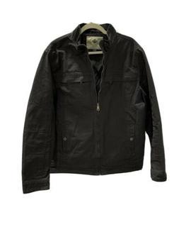 WenVen, Men's Casual Canvas Cotton Military Lapel Jacket Cha