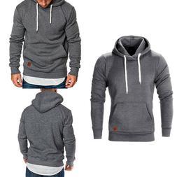 Men's Casual Hoodies Pullover Sweatshirts Winter Warm Hooded