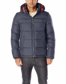 TOMMY HILFIGER MEN'S CLASSIC HOODED PUFFER JACKET STYLE 156A