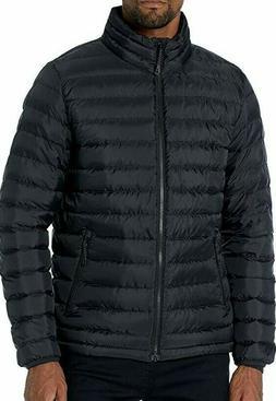 Goodthreads Men's Down Puffer Jacket, Black Medium Tall