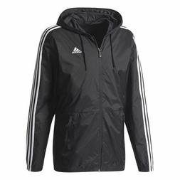Adidas Men's Essentials 3-Stripes Wind Jacket Black / White