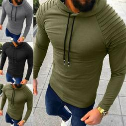 Men's Fashion Winter Hoodie Warm Hooded Sweatshirt Sweater C