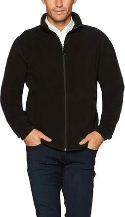 Amazon Essentials Men's Full-Zip Polar Fleece Jacket, Black,