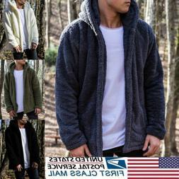 Men's Fur Fleece Coat Winter Coat Overcoat Warm Slim Jacket