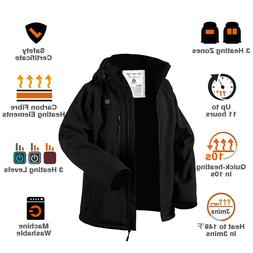 CHONIMA Men's Heated Jacket with Battery ChargeWindproof Ele