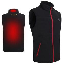 Men's Heating Vest Coat USB Electric Pad Winter Jacket Heate