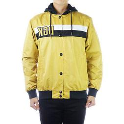 DGK Men's Hitter Custom Long Sleeve Jacket Gold Yellow Wind
