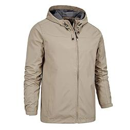 Nantersan Men's Hooded Windbreaker Casual Outdoor Windproof