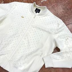 Men's Ivory Spiky Fashion Track Jacket