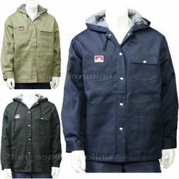 Men's Jackets Ben Davis Fleece Lining Hooded Jacket Snap Fro