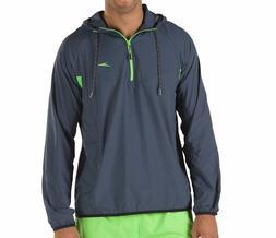 Speedo Men's Lightweight Packable Quarter Zip Hooded Jacket