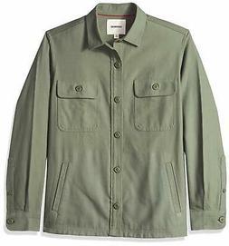 Goodthreads Men's Military Broken Twill Shirt Jacket -olive