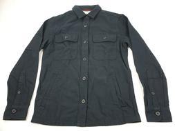 Goodthreads Men's Military Broken Twill Shirt Jacket, -black