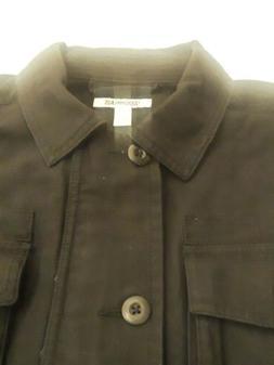 Goodthreads Men's Military Broken Twill Shirt Jacket Black S