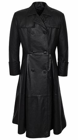 Men's Morpheus Full Length Matrix Leather Jacket Coat