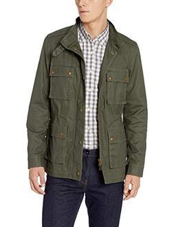 Goodthreads Men's Moto Jacket, Olive, Large