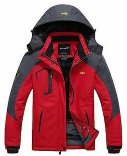 men s mountain waterproof fleece ski jacket