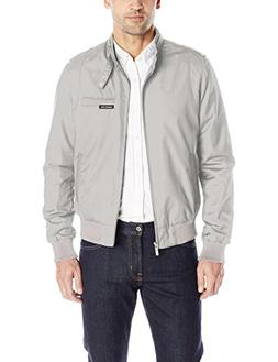 Members Only Men's Original Iconic Racer Jacket, Light Grey,